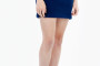 Many Weather's Navy Fleece Skirt