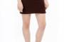 Many Weather's Cocoa Fleece Skirt
