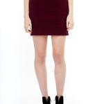 Many Weathers Bordeaux Fleece Skirt